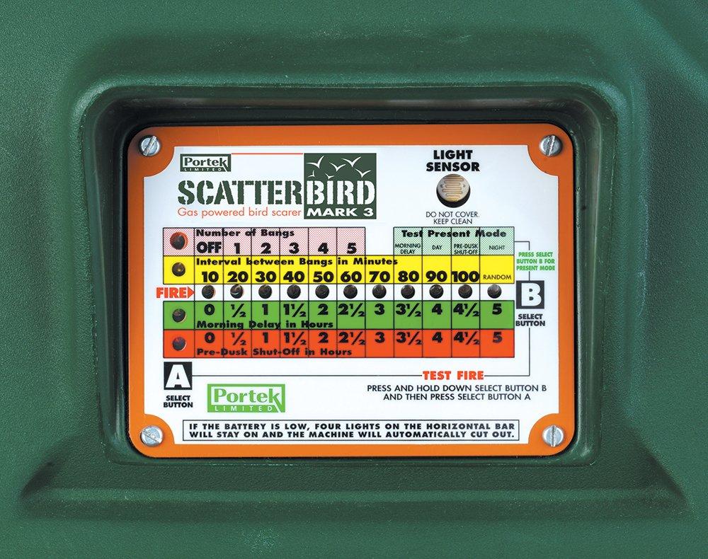 portek scatterbird mk3 control panel