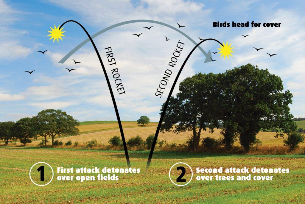 agricultural birdscaring rockets skybird portek