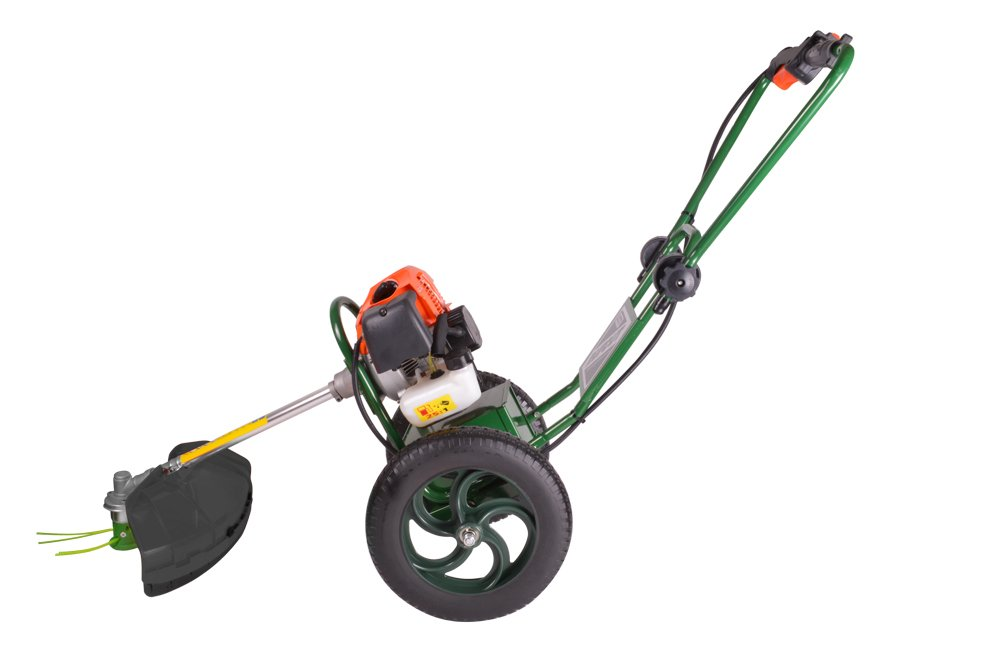 portek rucfut wheeled strimmer high handle position