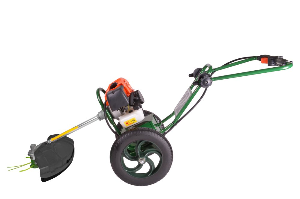 portek rucfut wheeled strimmer low handle position