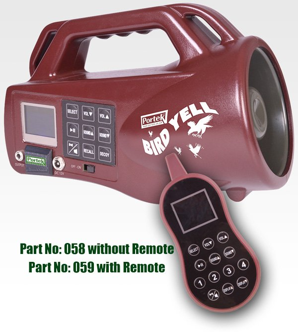 Portek BirdYell Electronic Bird Scarer with Remote