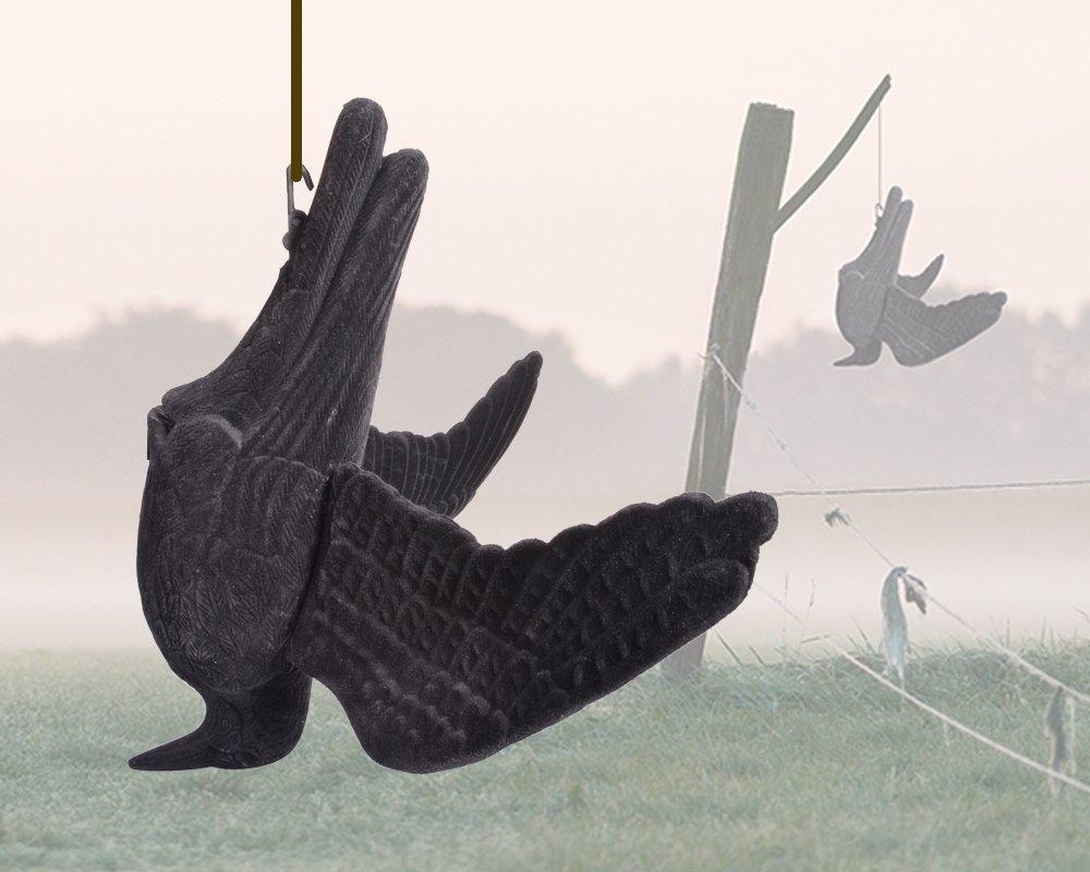 Portek Hanging Dead Crow Bird Scarer