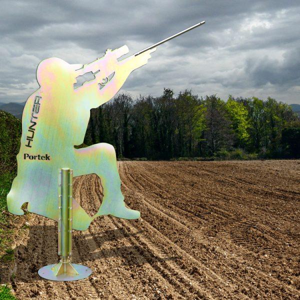 portek hunter metal bird scarer wind driven silent