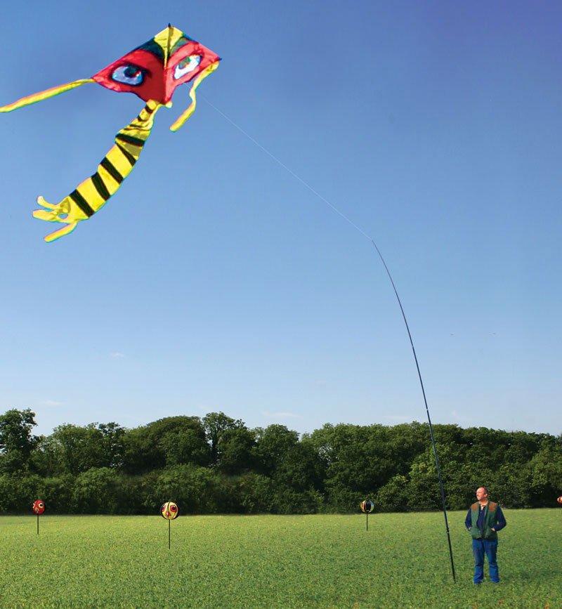 portek terrorkite bird scaring kite hawkeye wind driven globes