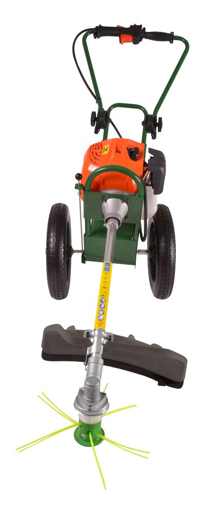 portek rufcut wheeled strimmer alignment position left