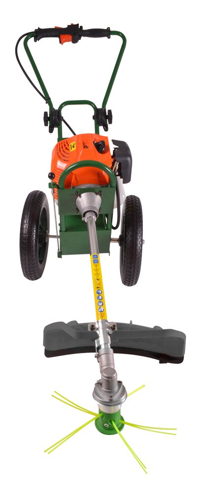 portek rufcut wheeled strimmer alignment position right