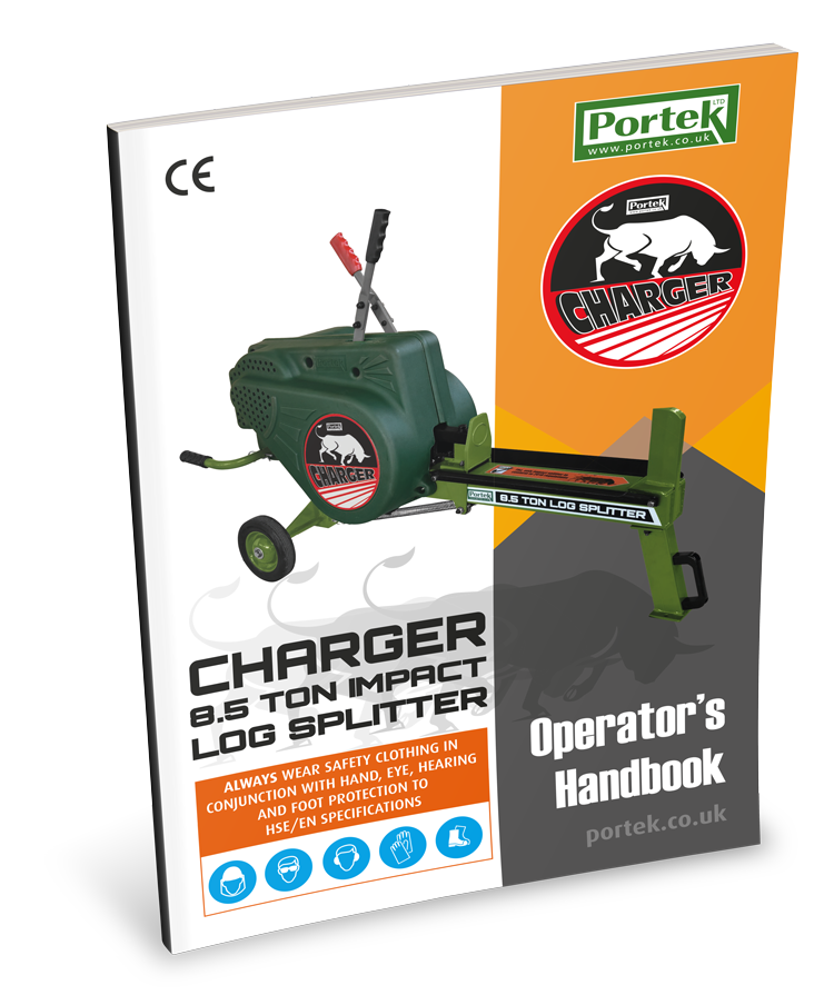 portek charger impact log splitter operators handbook
