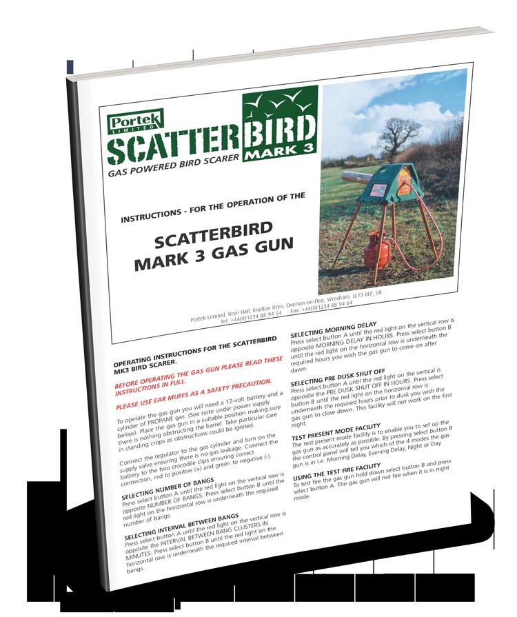 portek scatterbird mk3 operators guide