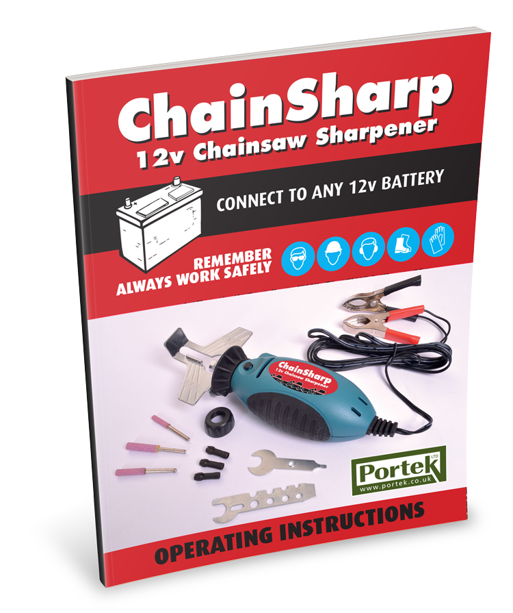 portek 12v chainsharp sharpener operating instruction