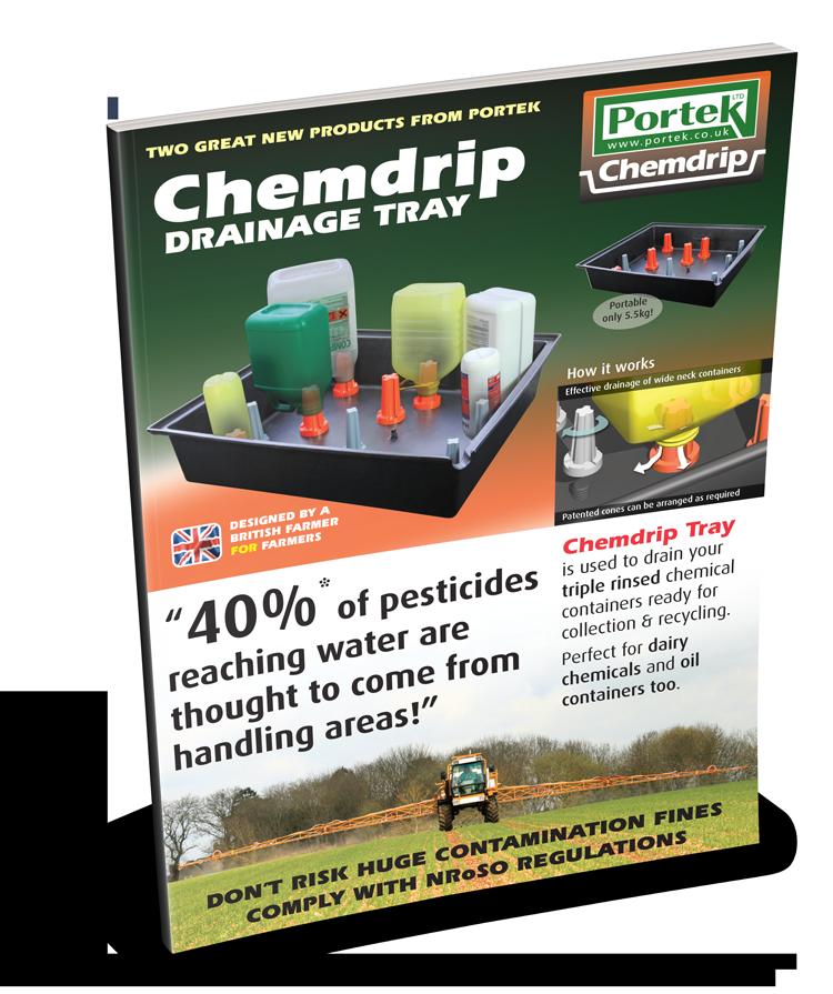 portek chemdrip drainage tray sales leaflet