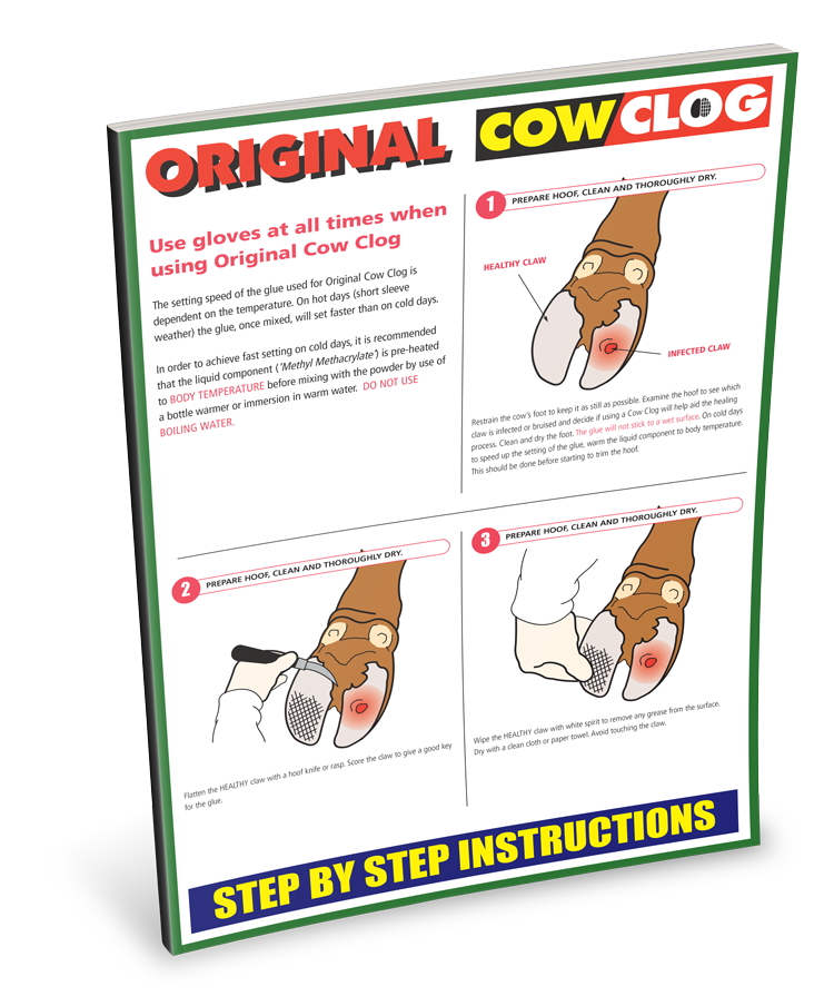 portek original cow clog instruction sheet