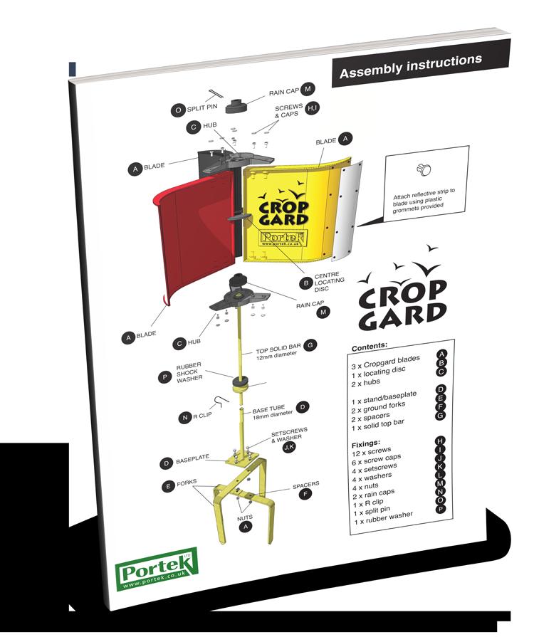 portek cropgard assembly instruction guide