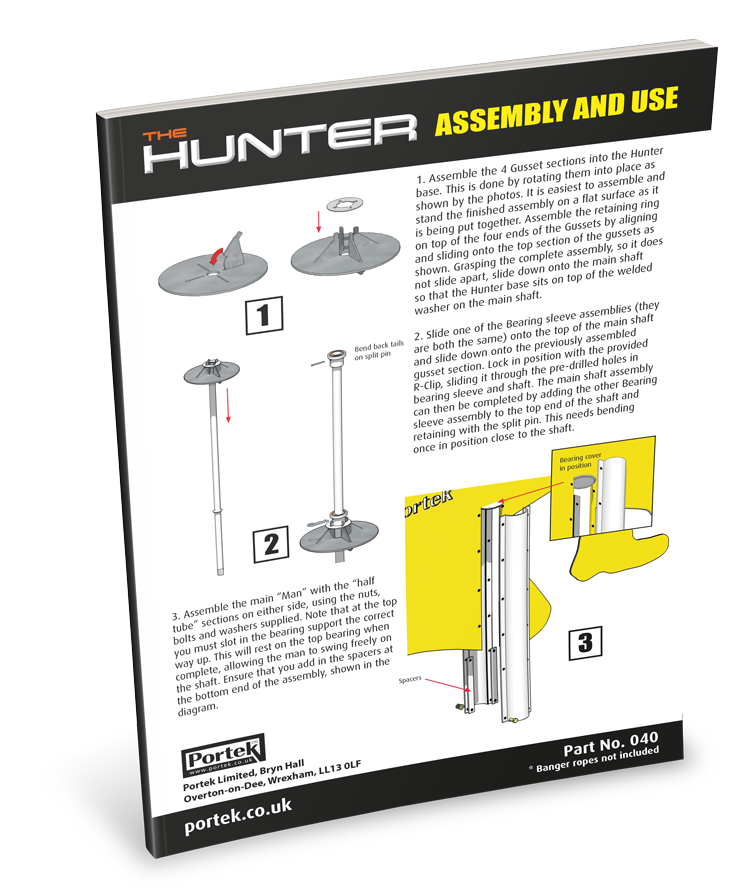 portek hunter assembly instructions and user guide