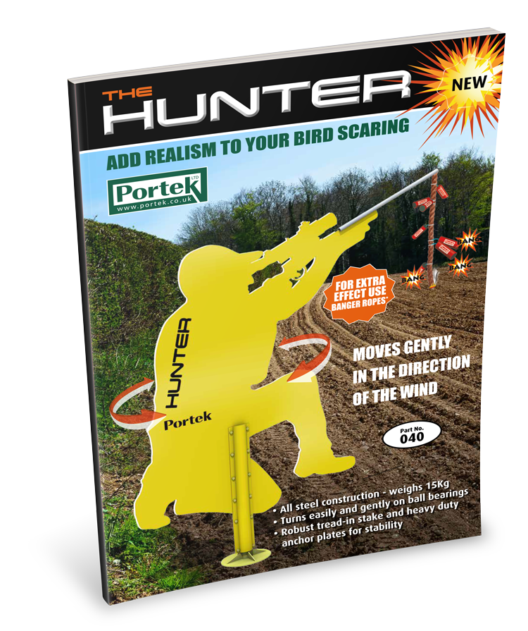 portek the hunter full sized bird scarer sales leaflet