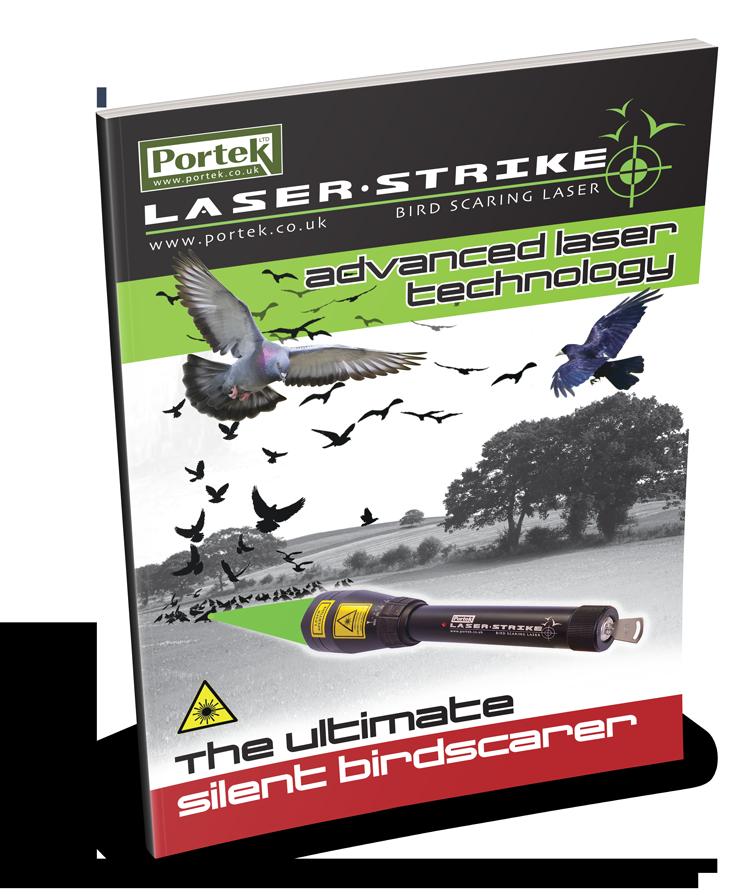 portek laserstrike silent bird scarer sales leaflet
