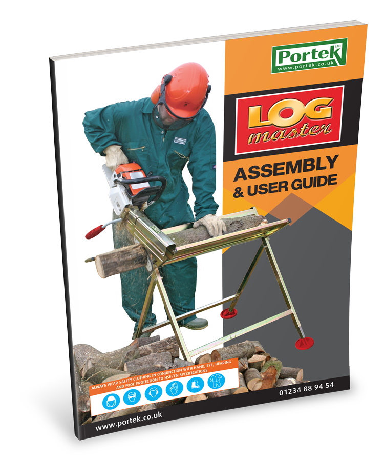 portek logmaster saw horse log bench assembly guide