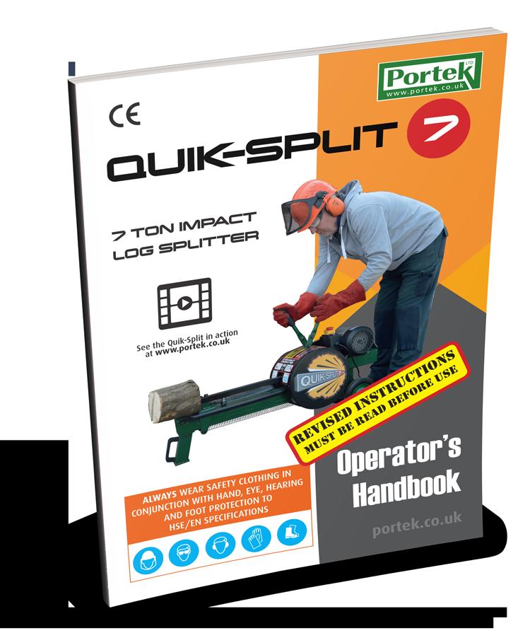 portek quiksplit impact log splitter operators handbook