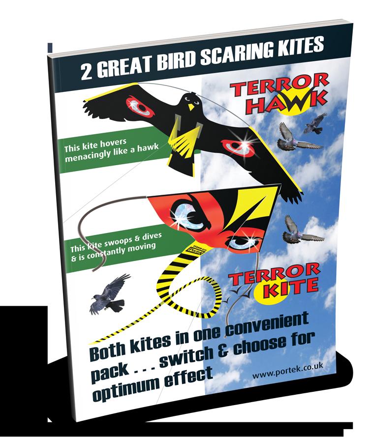 silent bird scaring kites sales leaflet portek