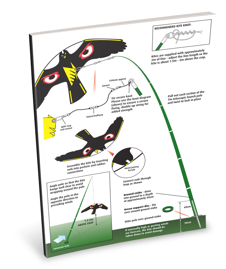portek terror hawk silent kite instruction sheet
