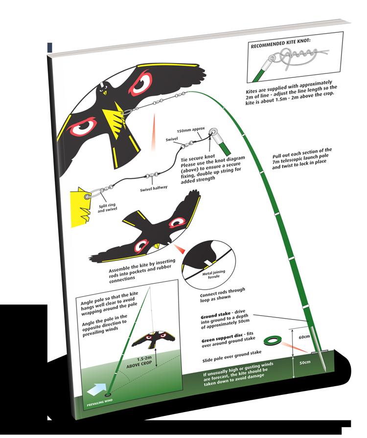 portek terror hawk silent kite instruction sheet
