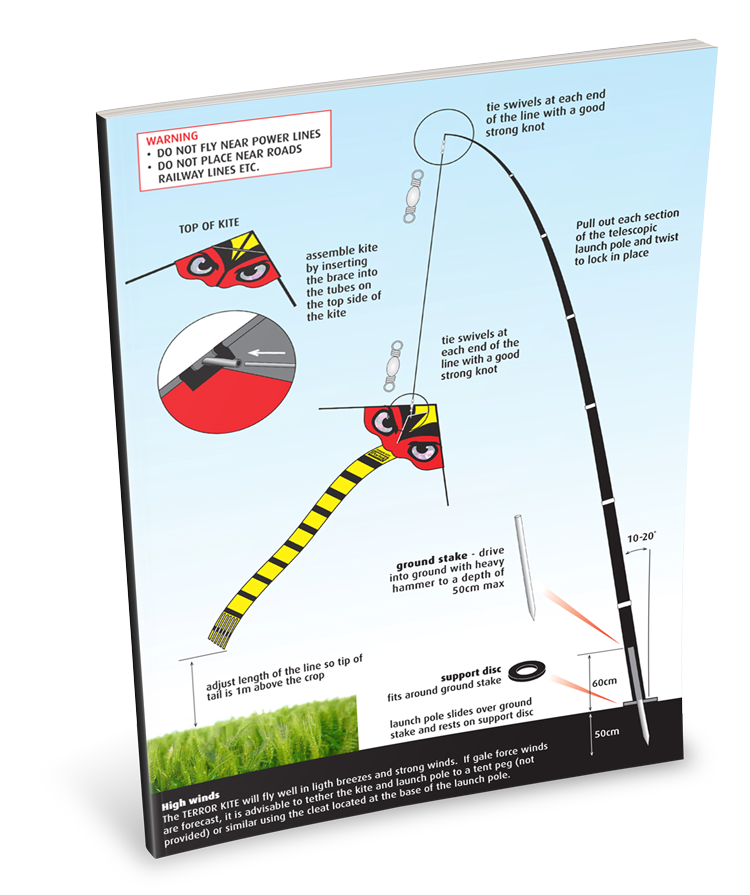 portek terror kite silent kite instruction sheet