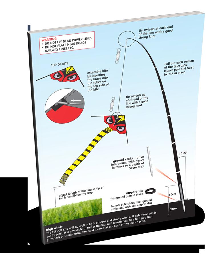 portek terror kite silent kite instruction sheet