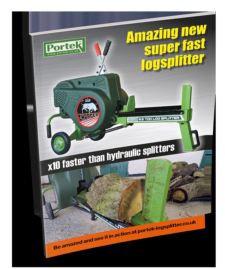 portek charger 8.5ton impact log splitter sales leaflet