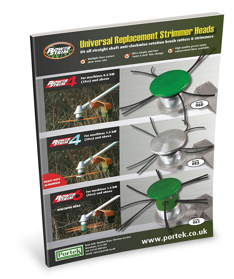 portek powerstrim universal replacement strimmer heads sales leaflet