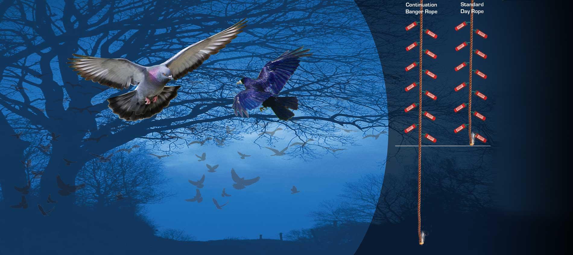 portek nighttime banger rope bird deterrent crop defence