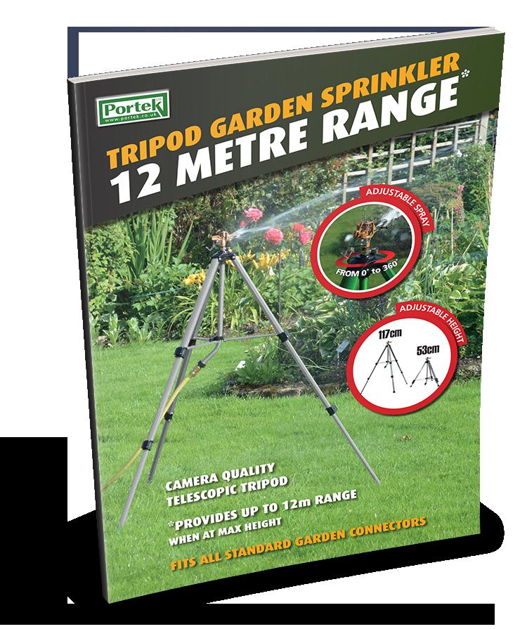 portek tripod garden sprinkler sales leaflet