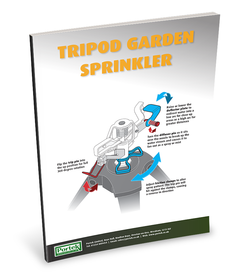 portek tripod garden sprinkler adjustment guide