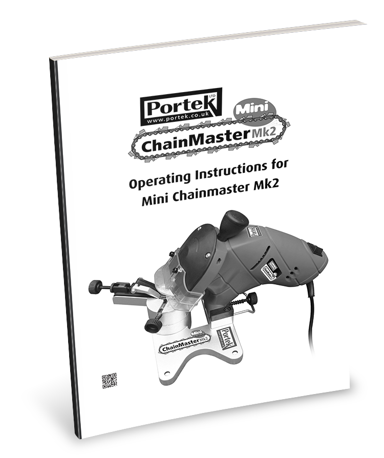 Portek Chainmaster Mini MK2 Chainsaw Sharpener Operators Manaul