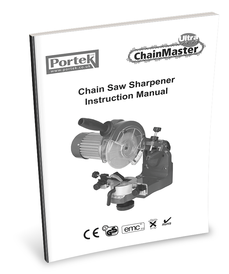 Portek Chainmaster Ultra Chainsaw Sharpener Operators Manaul